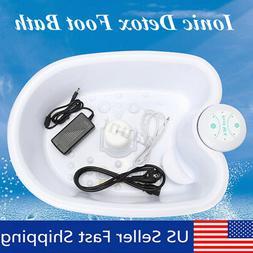 110V Portable Foot Spa Bath Ion Ionic Detox Array Tub Massag