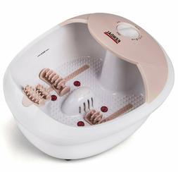All in one foot spa bath massager w/heat, HF vibration O2 bu