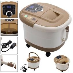 All-In-One Foot Spa Bath Massager Tem/Time Set Heat Bubble V