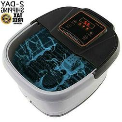 All In One Foot Spa Bath Massager LED Display w/Temp Time Se