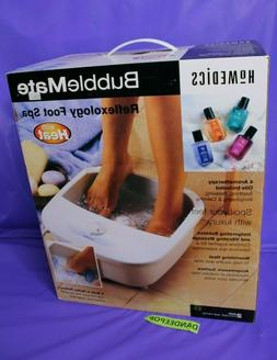 Homedics BubbleMate Reflexology Foot Spa With Heat And Essen