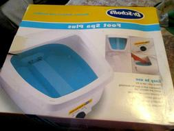 Dr Scholl's Foot Spa Plus New in box Revives Relaxes Smooths