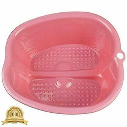 Foot Bath Spa,Water And Massage, Sturdy Plastic Basin For So