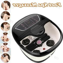 Foot Spa Bath Massager All In One LED Temperature Timer Disp
