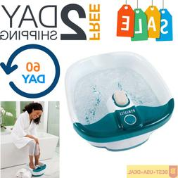 Foot Spa Bath Massager Bubble Massage Footbath Heat Soak Tub