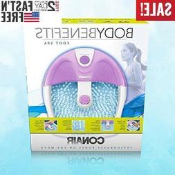 Foot Spa Bath Massager Bubble Massage Heat Soaker Massage Bu