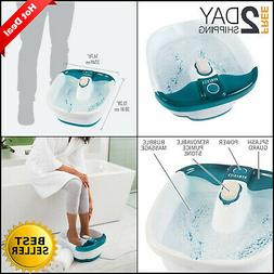 Foot Spa Bath Massager Bubble Massage Heat Soaker Soak Tub P