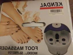 Kendal foot spa bath massager heat bubbles vibration LED tem