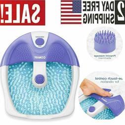 Foot Spa Bath Massager Heat Soaker Feet Massage Vibration Bu