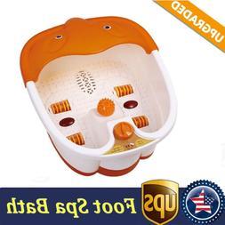 Foot Spa Bath Massager Massage Heat Soaker Soak Tub Pedicure