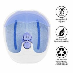 Foot Spa Bath Massager O2 Bubble Soothing Rolling Warming Re