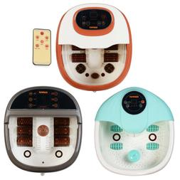 Foot Spa Bath Massager Tem/Time Set Heat Bubble Vibration Wa