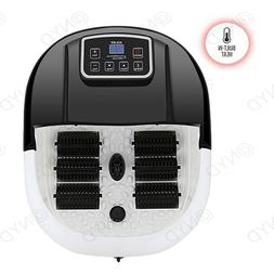 Foot Spa/Bath Massager With Heat Bubble-s And Vibration 3 In