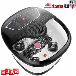 ACEVIVI Foot Spa Bath Massager with Massage Rollers Heat and