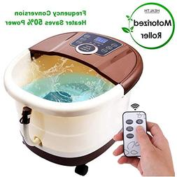 ACEVIVI Foot Spa Bath Motorized Massager with Heat, Frequenc
