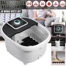 Foot Spa Massager Adjustable Heated Bath Motorized Rolling E