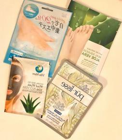 Home Spa Day! TWO THERAPEUTIC FOOT MASKS, LOTUS SEAWEED & DE
