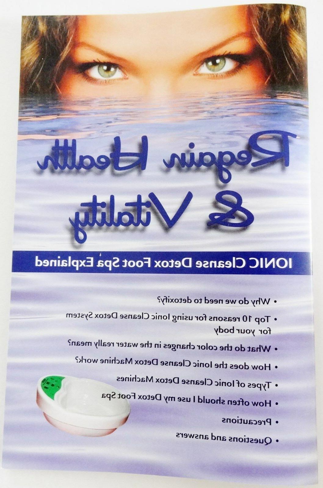 Detox SPA Automatic Ionic Foot Bath Spa 1 YEAR