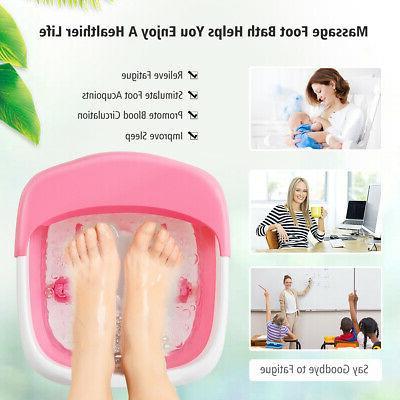 Foldable Spa Bath Motorized Massager Bubble Relief