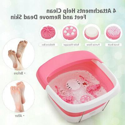 Foldable Foot Motorized Massager Bubble Relief