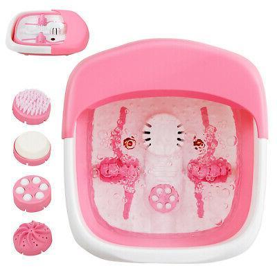 foldable foot spa bath motorized massager w
