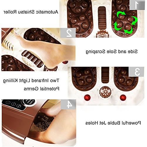 Foot with Pedicure Motorized Shiatsu Acupuncture Frequency Conversion, O2 Adjustable & LED