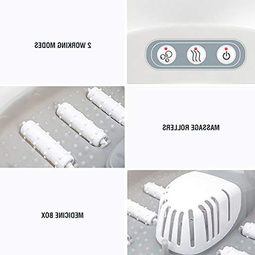 Hangsun Spa Bath Massager with and FM400 Electric Feet Timer, Rollers, Infrared Box - Water & Relieve Foot
