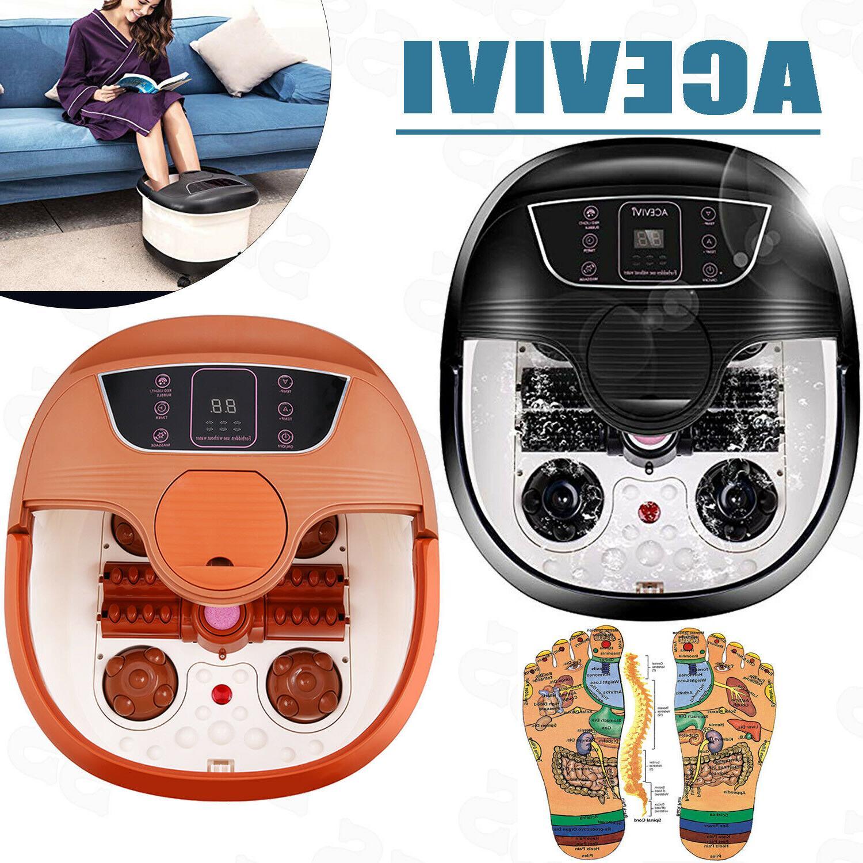 ACEVIVI Foot Spa Bath Massager Automatic Massage Rollers Hea