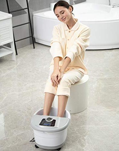 Foot Spa Bath with Heat Massage Machine Bubble Soak Adjustable Control