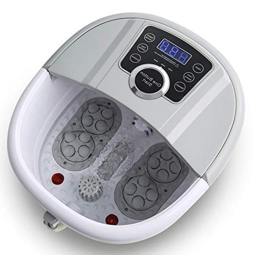 Foot Spa with Massage Foot Machine Athletes Bubble Soak Control