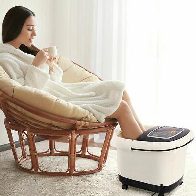 Foot Spa Bath Tub Massager w/ Heat Vibration Tem/Time Set 4