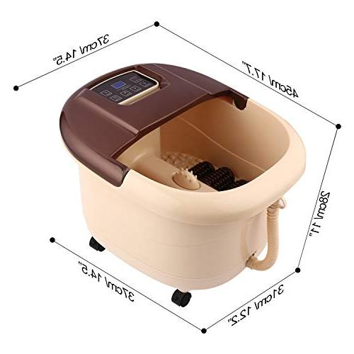ACEVIVI Foot Spa Bath Motorized Massager and and Adjustable Time Relaxing