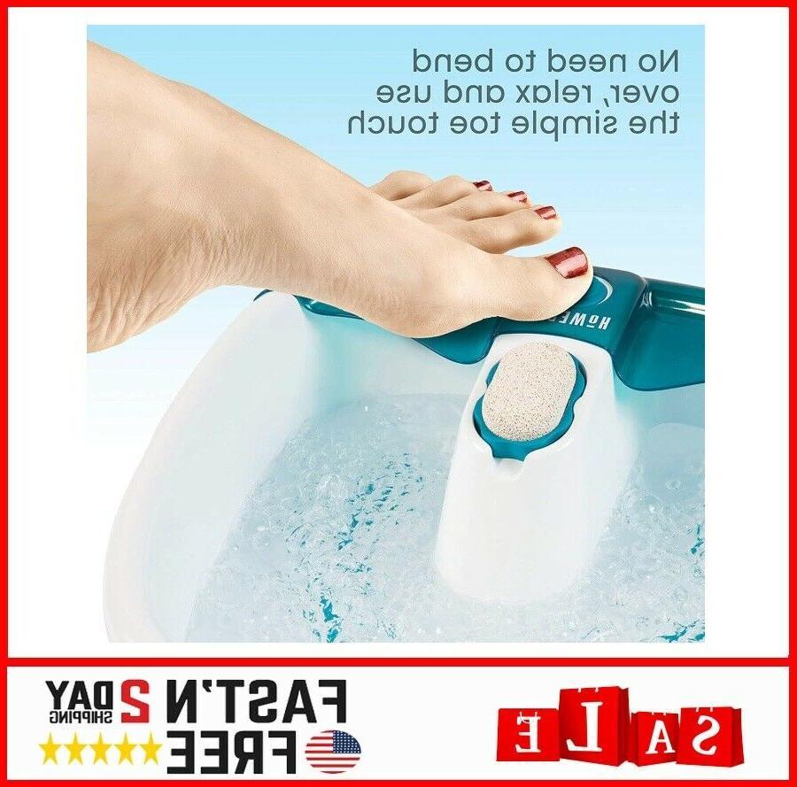 Foot Spa Feet Bath Jets Machine Toe-Touch Control Bubbles