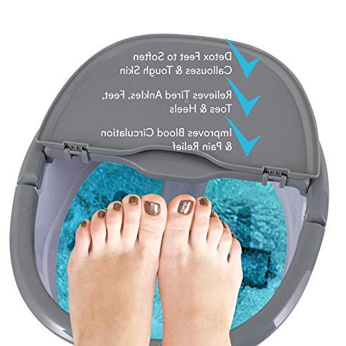 SereneLife Bath Foot Spa with Kneading Massage Brush, Roller, Vibration,