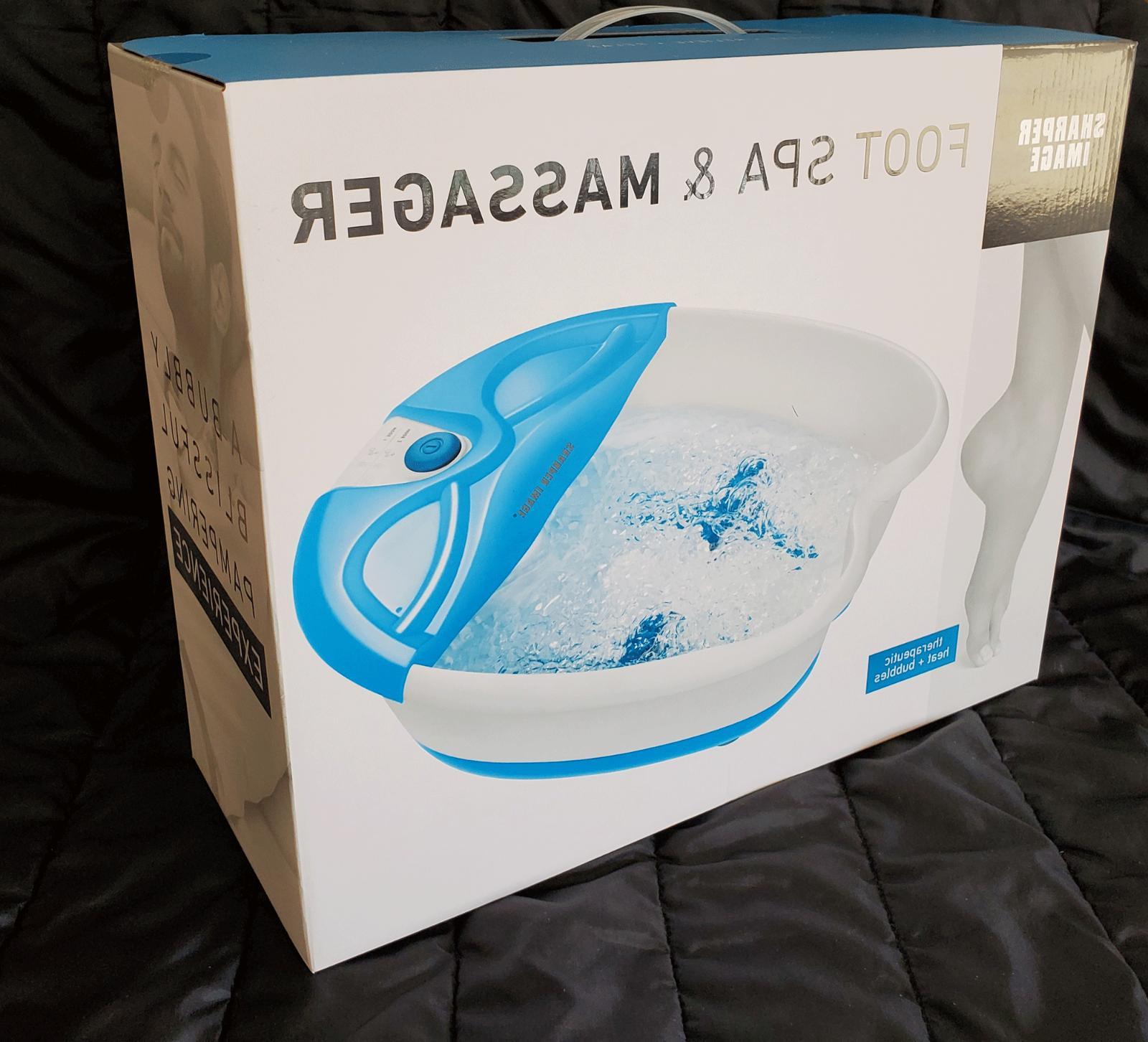 NEW IN BOX SHARPER IMAGE SMG1550BL FOOT SPA & MASSAGER VIBRA