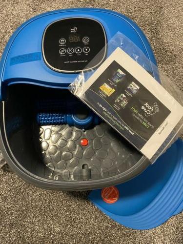 All in one digital foot spa bath massager w/ motorized rolli
