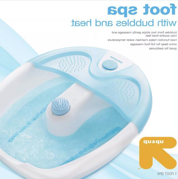 Portable Foot Spa Vibrating Heat Massager Pedicure Hot Water