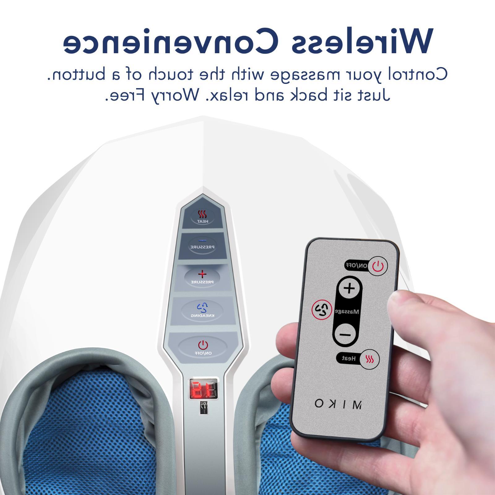 Miko Shiatsu Foot W/ Kneading Heat Therapy and Rolling Spa Massage