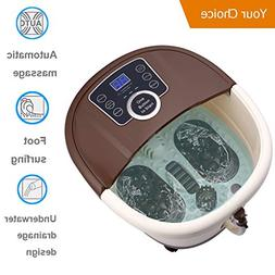 Hurbo All in One Foot Spa Bath Massager Bubble Heat Massage