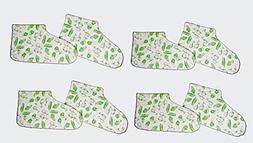 Lot of 4 Pairs Duraskin Moisturizing Foot Socks Skin Care Th