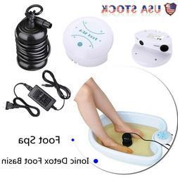 Personal Ionic Detox Foot Basin Bath Spa Cleanse Machine Tub