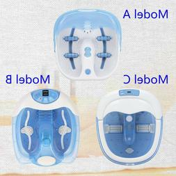 Portable Electric Foot Bath Massager Tub Spa Basin with Heat