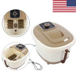 Portable Foot Spa Bath Massager Bubble Heat Tub with Automat