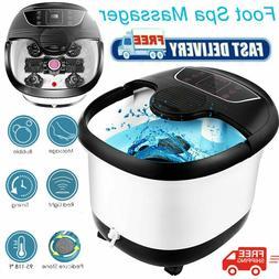 Portable Foot Spa Bath Massager Bubble Heat Soaker Heating P