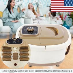 Portable Foot Spa Bath Massager Bubble Heat Soaker Vibration