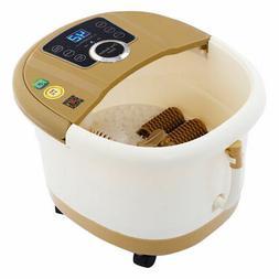 Portable Foot Spa Bath Massager Bubble Heat LED Display Vibr