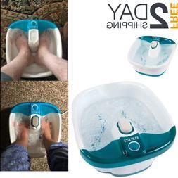Portable Foot Spa Bath Massager Bubble Heat Soaker Soak Tub