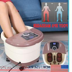 Portable Foot Spa Bath Massager Bubble Massage Heat Soaker S