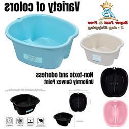 Portable Home Foot Tub Spa Soaking Bath Basin With Massage D