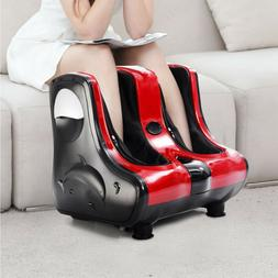 Red Shiatsu Kneading Rolling Vibration Heating Foot Spa Calf